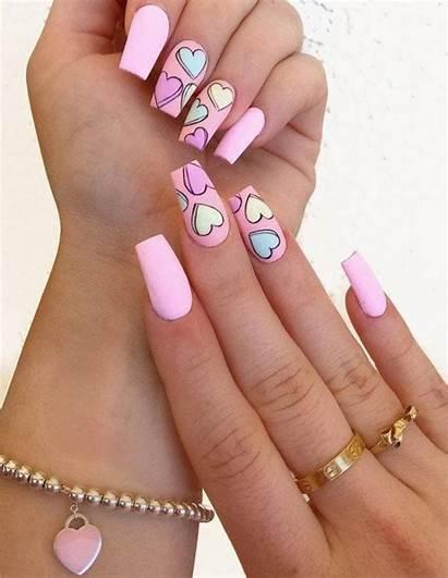 Nail Acrylic Heart Nails Memuralimilani Pinnergif Hottest