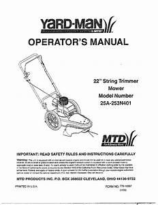 Mtd High Wheel Trimmer Mower Parts