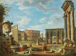 Capricio Of Roman Monuments With The Colosseum And Arch Of ...