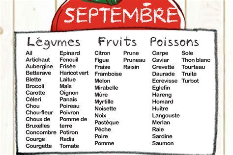 légumes de septembre fruits et l 233 gumes de saison mois de septembre manger