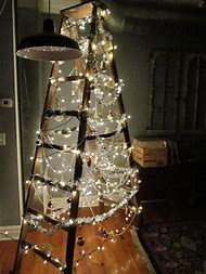 christmas tree ladder decoration