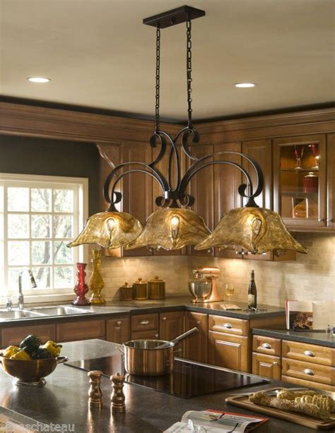kitchen lights island tuscan tuscany bronze glass kitchen island