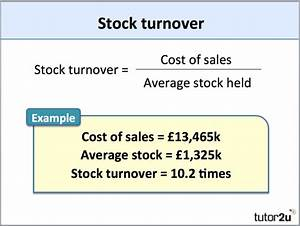 What is stock turn over ratio? How can it calculate ...