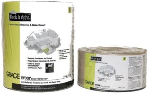 Vycor Deck Protector 4 X 75 by Grace Vycor Deck Protector Self Adhered 4 Quot X 75