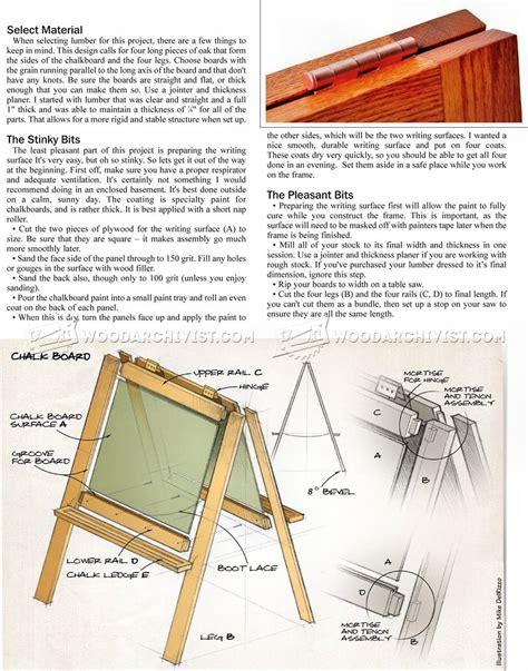 diy chalkboard easel woodarchivist