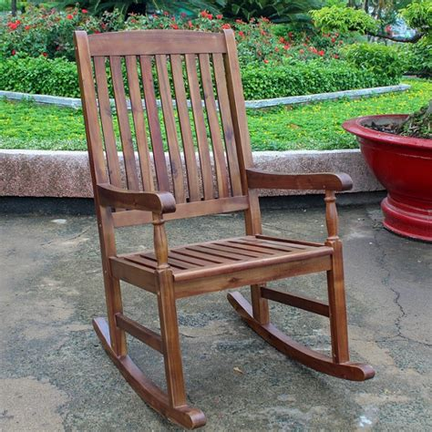 Front Porch Chairs For Sale by Teak Like Hardwood Deluxe Porch Rocking Chair