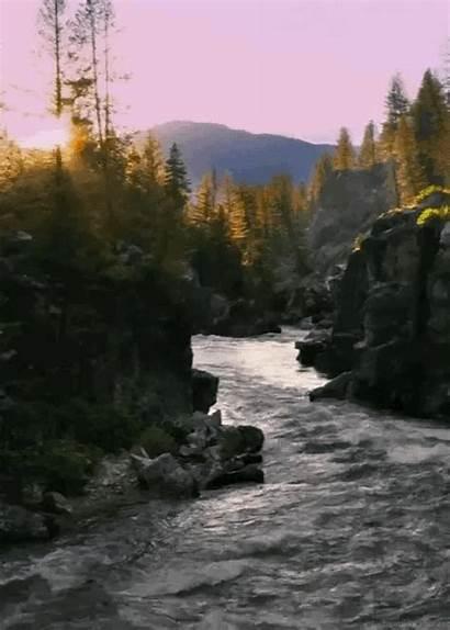 Landscapes River Park Montana National Through Runs