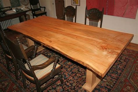 Hand Made Ambrosia Maple Dining Table by Fredric Blum