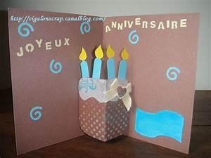 Fabriquer Carte Anniversaire : carte anniversaire creation dasaquenguli web ~ Melissatoandfro.com Idées de Décoration