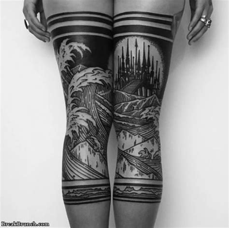 awesome leg tattoos breakbrunch