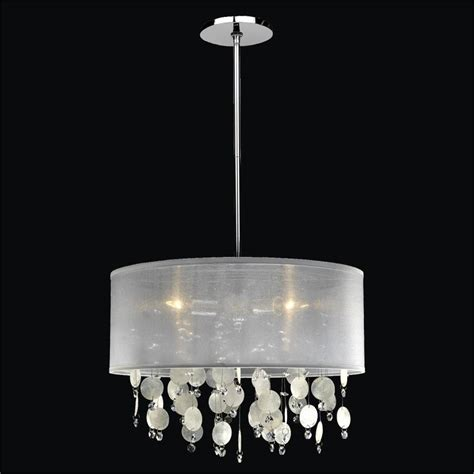 drum shade chandelier capiz shell chandelier 005