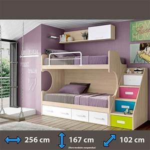 Lit Superposé Escalier : lits superpos s avec des escaliers lits superpos s ~ Premium-room.com Idées de Décoration