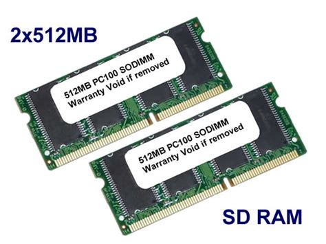 Sodimm 1gb 2x 512mb Pc100 Sdram Pc 100 Laptop Memory