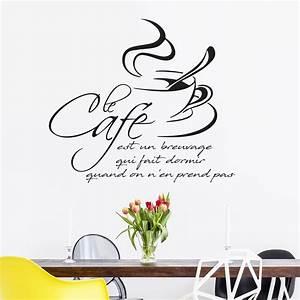 Stickers Muraux Cuisine : sticker citation cuisine le caf est un breuvage qui fait ~ Premium-room.com Idées de Décoration