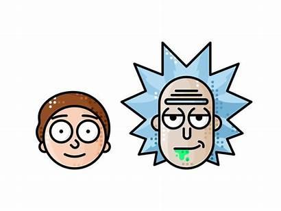 Morty Rick Vector Icons Cartoon Icon Line
