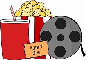 Movie Clip Art - Movie Images - Kids Movie Night Clip Art