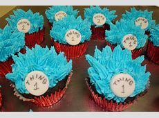 Thing 1 and Thing 2 cupcakes $3 each