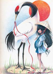 Red Crowned Crane and Girl by xxswanfeather on DeviantArt