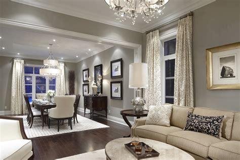 medium light grey walls with contrasting wood floor