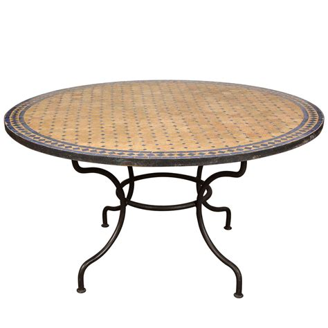 mosaic outdoor dining table outdoor mosaic tile table at 1stdibs