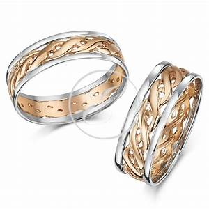 His hers 6mm 7mm 9ct rose gold celtic wedding ring set for 9ct gold wedding ring sets