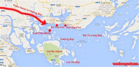 Halong Bay Maps, Bhaya Cruise Halong Bay, Mekong River Cruises