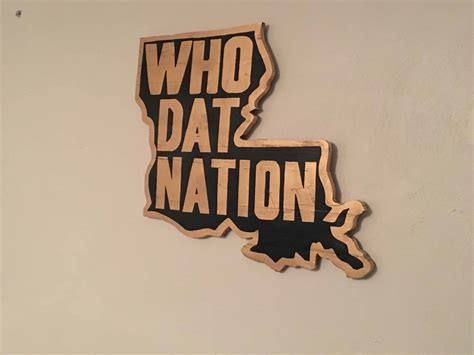 louisiana  dat nation pallet wall art shows state pride