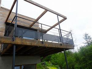 Garde De Corps Terrasse : garde corps en acier sur terrasse demod metal ~ Melissatoandfro.com Idées de Décoration