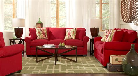 room inspiration red white beige colored living room