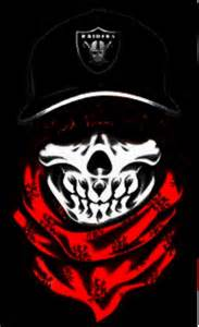 Red Skull with Bandana Gangster
