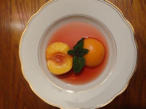 soupe de pêches au vin rosé cuisson basse température