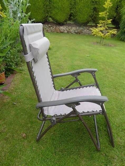 garden chair padded beige sun lounger recliner chairs
