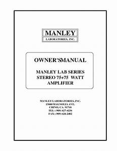 Stereo 75 75 Watt Amplifier Manuals