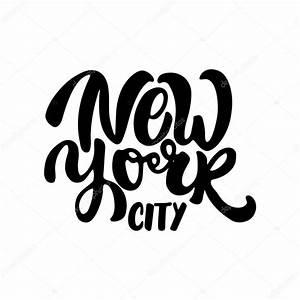 New York Schriftzug : new york city schriftzug auf dem wei en hintergrund isoliert satz wie von hand gezeichnet ~ Frokenaadalensverden.com Haus und Dekorationen