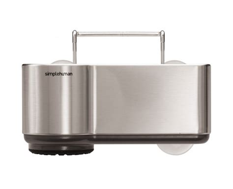 kitchen sink holder simplehuman sink caddy brushed stainless steel 2741