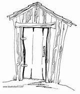 Clipart Hillbilly Outhouse Rustic Shed Sheds Country Pages Shack Sketch Drawing Primitive Drawn Hand Really Coloring Drawings Shacks Weatherbeaten Building sketch template