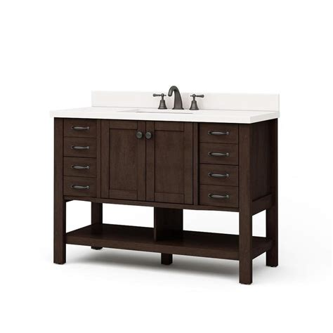 48 vanity with top and sink shop allen roth kingscote espresso undermount single