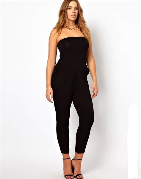 womens jumpsuit aliexpress com buy plus size strapless