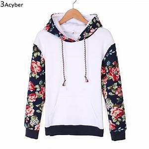 2017 Sweatshirt Women Hoodies Patchwork Flower Printed ...