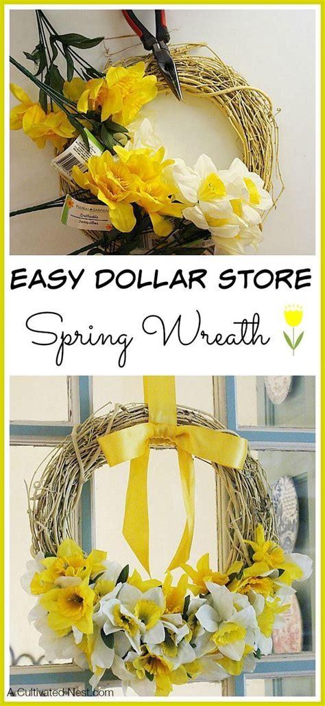 easy dollar store spring wreath diy spring wreath diy