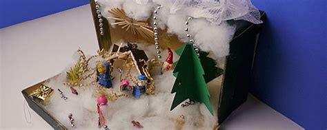 basteln im winter weihnachtslandschaft im schuhkarton ytti