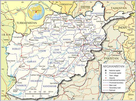 printable afghanistan map map  afghanistan afghanistan
