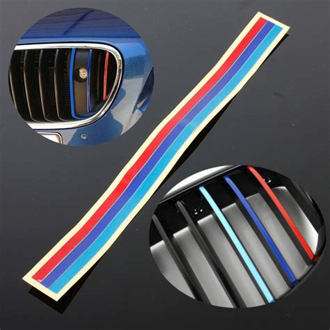 3 Color Grill Vinyl Strip Sticker Decal For Bmw M3 M5 E36