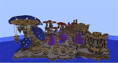 Minecraft Build Mushroom Kingdom Pollux Cool Building
