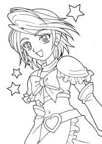 Pretty Anime Girls Coloring Pages Printable