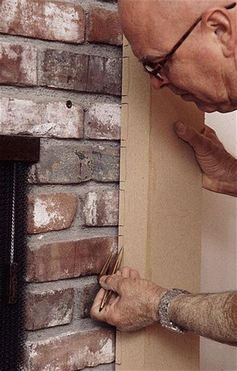 scribing wood mantels  stone  brick