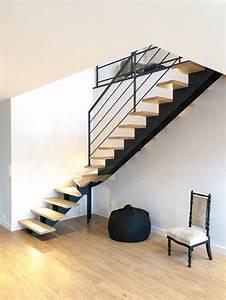 Escalier 4 Marches : type d escalier escalier 1 4 tournant limon central mati re m tal mati re des marches ~ Melissatoandfro.com Idées de Décoration