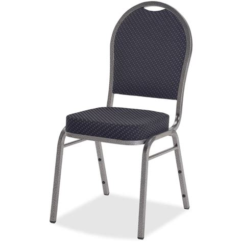llr62518 lorell upholstered cushion stacking chairs