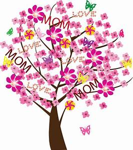 Mother's day tree stock vector. Illustration of background ...