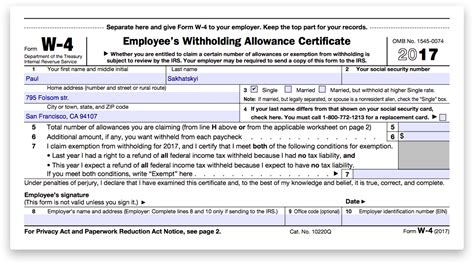how to fill out w 4 form for dummies w4 2018 free worksheets library download and print